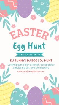 easter, event, spring, party Pantalla Digital (9:16) template