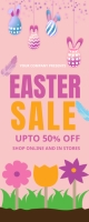 easter, event, spring, party Roll Up Banner 2' × 5' template
