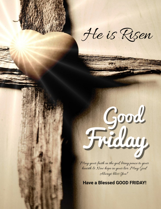easter, event, spring, party good friday Volantino (US Letter) template