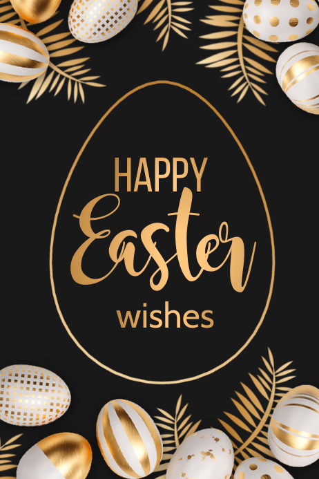 easter, happy easter Poster template