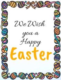 Easter, Happy Easter Flyer (US-Letter) template