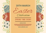 Easter, spring, event,spring card Postcard template