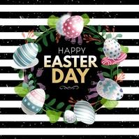 Easter,egg hunt Cuadrado (1:1) template