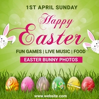 easter,event, party, sale Instagram-Beitrag template