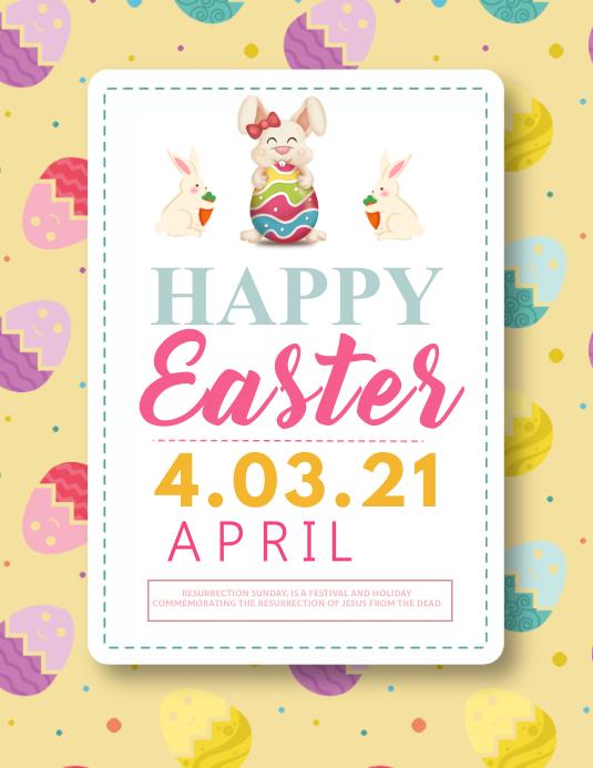 Easter,rebirth Flyer (US Letter) template