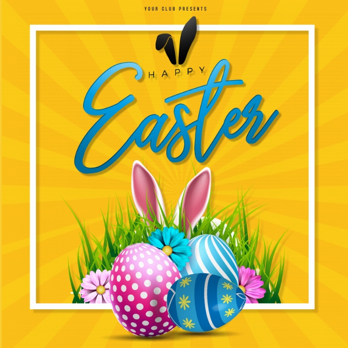 Easter , Egg hunt , Party Instagram na Post template