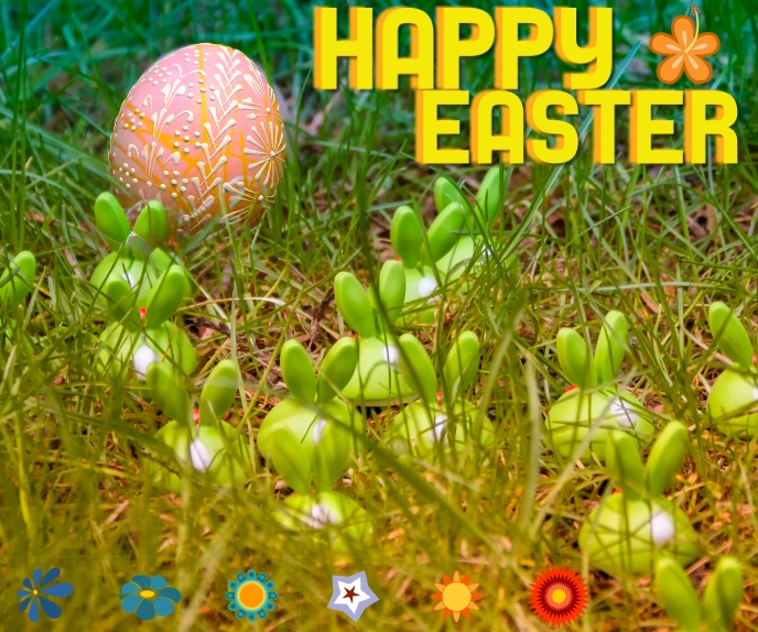 EASTER 2020 BANNER Rectángulo Grande template