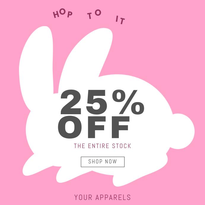 Ostern Kleidung Verkauf Instagram Post Vorlage-Vorlage | PosterMyWall