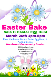Easter bake Sale and Egg Hunt Template