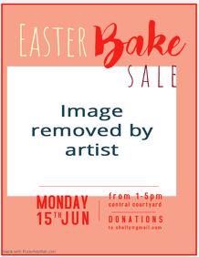 Easter Bake Sale Flyer