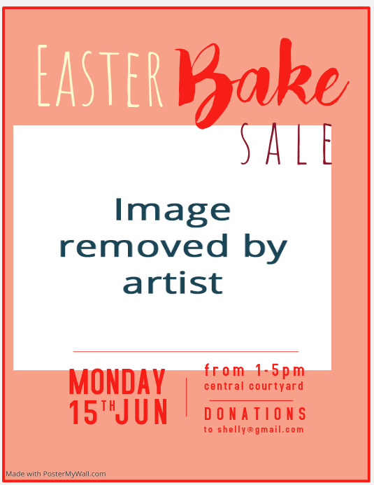 Easter Bake Sale Flyer