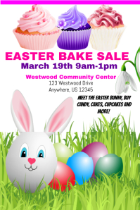 Easter Bake Sale Template Affiche