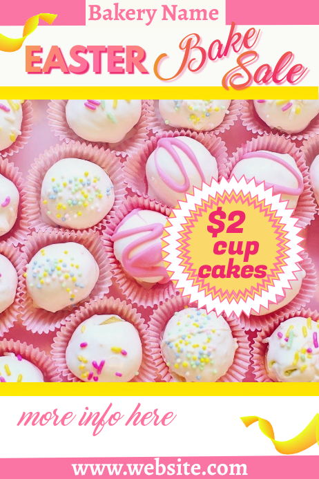 Easter Bakery Sale Poster