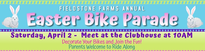Easter Bike Parade 2' x 8' Banner template