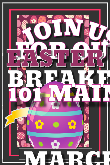 Easter Breakfast Poster template