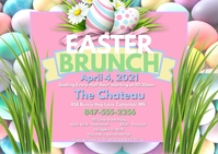 Easter Brunch 2 Postcard 明信片 template