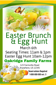 Easter Brunch and Egg Hunt Event Template Poster