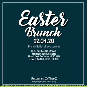 Easter Brunch Breakfast Buffet Video Advert Square (1:1) template