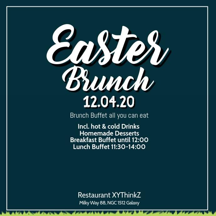 Easter Brunch Breakfast Buffet Video Advert Vierkant (1:1) template