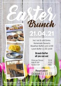 Easter brunch Buffet Breakfast Advert Flyer