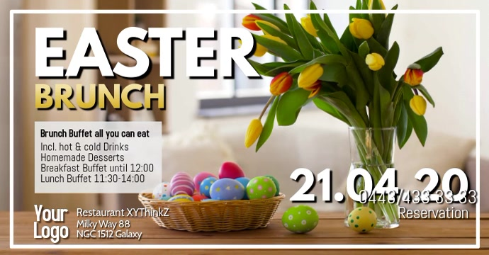 Easter Brunch Buffet Breakfast Events Ostern Video template