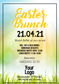 Easter Brunch Buffet Breakfast OsternFlyer Po A4 template