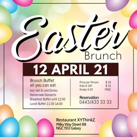 Easter Brunch Buffet Breakfast Template Resta Instagram Post