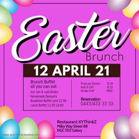 Easter Brunch Buffet Breakfast Template Restaurant Bar
