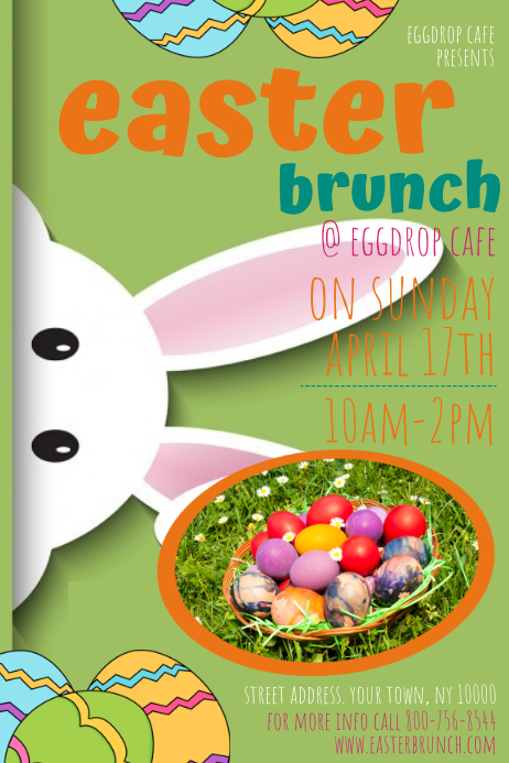 Easter Brunch Poster template
