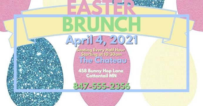Easter Brunch FB Facebook Event Cover template