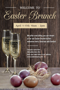 Easter Brunch Poster template