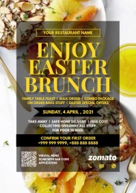 Easter Brunch Promo 2021 Template A4
