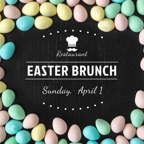 Easter Brunch Restaurant Instagram Post Template