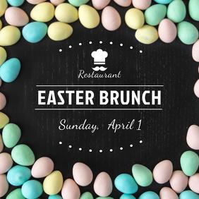 Easter Brunch Restaurant Instagram Post Template