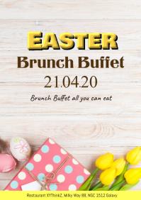 Easter Brunch Sunday Poster Flyer Restaurant