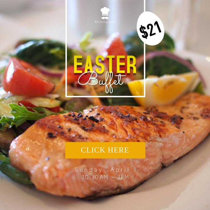 Easter Buffet Restaurant Instagram Post Template