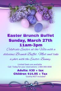 Easter Bunch Buffet Template