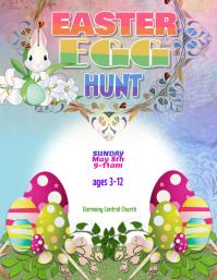easter bunny egg hunt flyer