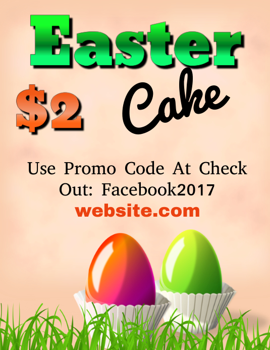 easter cake sale template