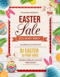 Easter cards,easter,egg hunt Flyer (US-Letter) template