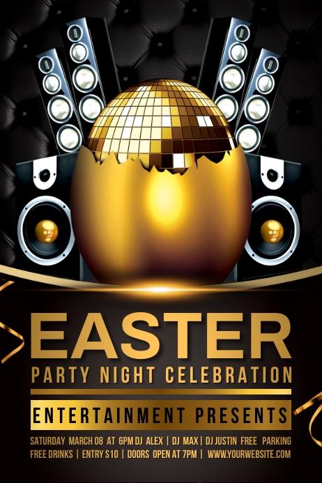 easter celebration Affiche template