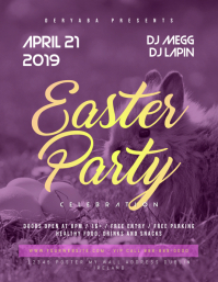 Easter Celebration Flyer April 21 Template
