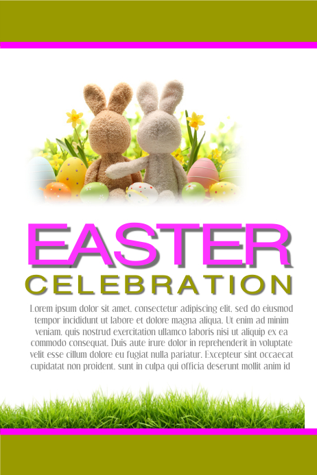 Easter Celebration Cartaz template