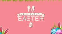 Easter celebration wishes Wpis na Twittera template