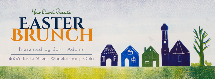 Easter Church Brunch Invitation Banner
