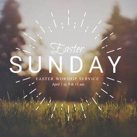 Easter Church Event Instagram Post Template