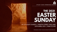 EASTER church flyer Digitalt display (16:9) template