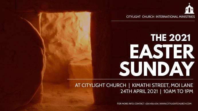 EASTER church flyer Pantalla Digital (16:9) template