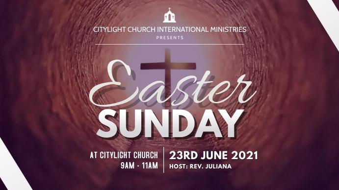 EASTER church flyer Digitale display (16:9) template