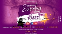 Easter Church Service Digitale display (16:9) template